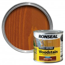 Ronseal Quick Drying Wood Stain 250ml Antique Pine Satin