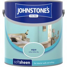 Johnstones Vinyl Emulsion Paint 2.5L Aqua Soft Sheen