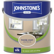 Johnstones Vinyl Emulsion Paint 2.5L Brandy Cream Silk