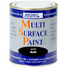 Bedec Multi Surface Paint 750ml Black Satin