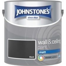 Johnstones Vinyl Emulsion Paint 2.5L Black (Matt)