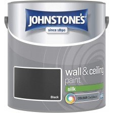 Johnstones Vinyl Emulsion Paint 2.5L Black Silk