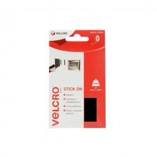 Velcro Stick On Tape 20mm x 50cm Black