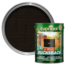 Cuprinol 5 Year Ducksback 5L Black