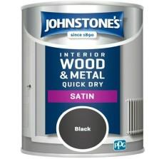 Johnstones Quick Dry Satin Paint 750ml Black