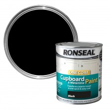 Ronseal One Coat Cupboard paint 750ml Black Satin