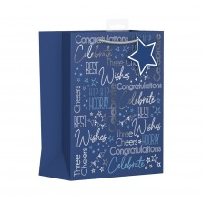 Birthday Gift Bag Blue XL