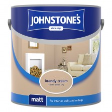 Johnstones Vinyl Emulsion Paint 5L Brandy Cream Matt