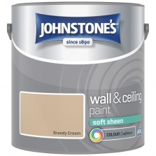 Johnstones Vinyl Emulsion Paint 2.5L Brandy Cream Soft Sheen