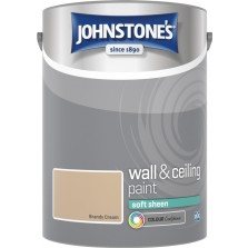 Johnstones Vinyl Emulsion Paint 5L Brandy Cream (Soft Sheen)