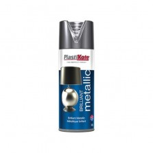 PlastiKote Brilliant Metallic Spray Paint 400ml Chrome
