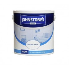 Johnstones Vinyl Emulsion Paint 2.5L Brilliant White (Matt)