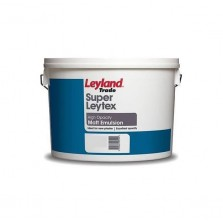 Leyland Super Leytex Emulsion Paint 10L Brilliant White (Matt)