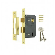 Era 3 Lever Brass Effect Sashlock 3""