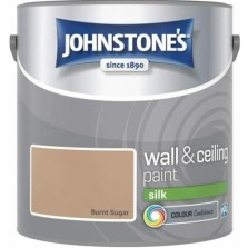 Johnstones Vinyl Emulsion Paint 2.5L Burnt Sugar Silk