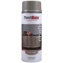 Plastikote Chalk Spray Paint 400ml Dark Hessian