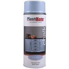 Plastikote Chalk Spray Paint 400ml Frost Blue