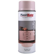 Plastikote Chalk Spray Paint 400ml Pale Rose