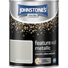 Johnstones Feature Wall Paint 1.25L Metallic Champagne Gold