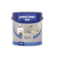 Johnstones Vinyl Emulsion Paint 2.5L Chapel Stone (Matt)