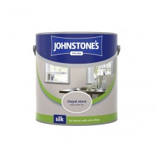 Johnstones Vinyl Emulsion Paint 2.5L Chapel Stone (Silk)