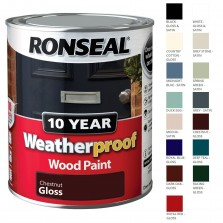 Ronseal 10 Year Weatherproof  Wood Paint Chestnut Gloss 750ml