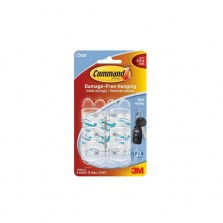 Command Mini Hooks Small Clear (6 Pack)