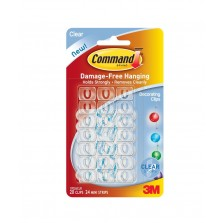 Command Outdoor Decorating Clips (20 Pack) Clear