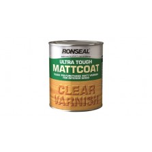Ronseal Ultra Tough Matt Coat Varnish 250ml Clear