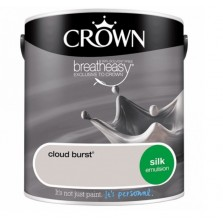 Crown Emulsion Paint 2.5L Cloud Burst Silk