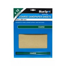 BlueSpot Sandpaper Sheets (10 Piece) Coarse