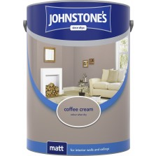 Johnstones Vinyl Emulsion Paint 5L Coffee Cream Matt