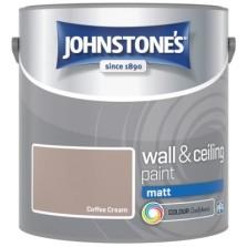 Johnstones Vinyl Emulsion Paint 2.5L Coffee Cream (Matt)