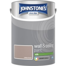 Johnstones Vinyl Emulsion Paint 5L Coffee Cream Silk