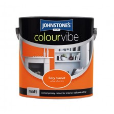 Johnstones Colour Vibe Emulsion Paint 2.5L Fiery Sunset (Matt)