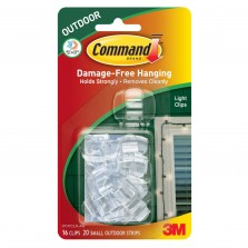Command Outdoor Light Clips (16 Clips) Clear