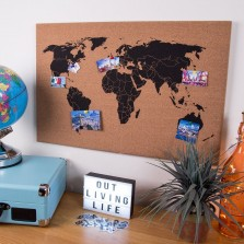 Global Gizmos Corkboard World Map
