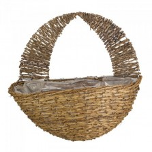 "16"" Country Rattan Wall Basket"