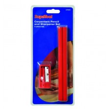 Supatool Carpenters Pencil & Sharpener Set (5 Piece)