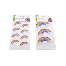 Craft Gem Stickers - Rainbows