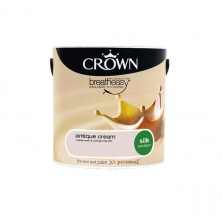 Crown Breathe Easy Emulsion Paint 2.5L Antique Cream (Silk)