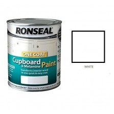 Ronseal One Coat Cupboard Paint 750ml White Gloss