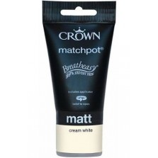 Crown Tester Pot 40ml Cream White Matt