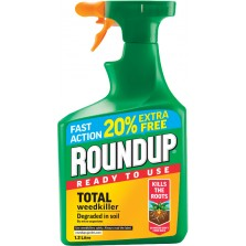 Roundup Total Weedkiller 1L Ready To Use (+ 20% Extra)