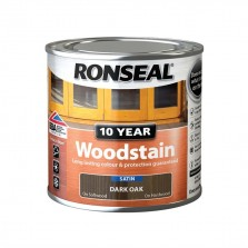 Ronseal 10 Year Woodstain Dark Oak Satin 750ml