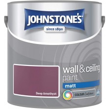 Johnstones Vinyl Emulsion Paint 2.5L Deep Amethyst Matt