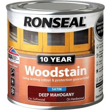 Ronseal 10 Year Woodstain Deep Mahogany Satin 250ml