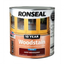 Ronseal 10 Year Woodstain Mahogany Satin 750ml
