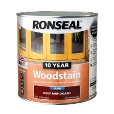 Ronseal 10 Year Woodstain Deep Mahogany Satin 750ml