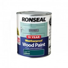 Ronseal 10 Year Weatherproof Gloss 750ml Deep Teal